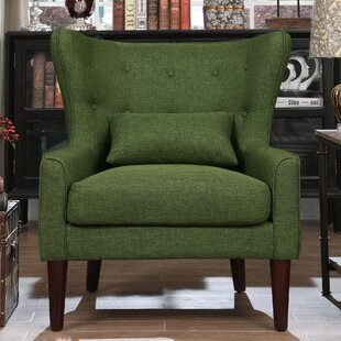 Dark Green Wingback Chair | Wayfair
