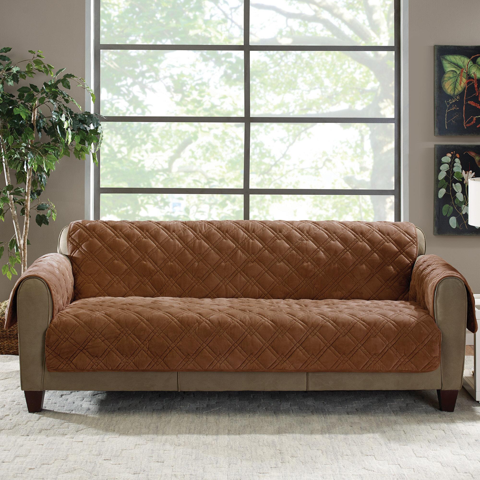 Bon Sure Fit Plush Comfort Sofa Slipcover U0026 Reviews | Wayfair