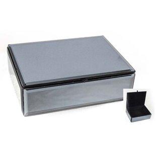 mirrored glass jewelry box wayfair