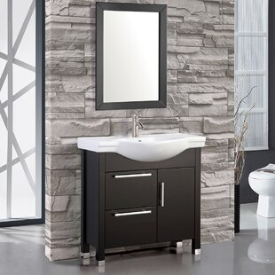 Deals Peru 36 Single Sink Bathroom Vanity Set with Mirror By MTD Vanities