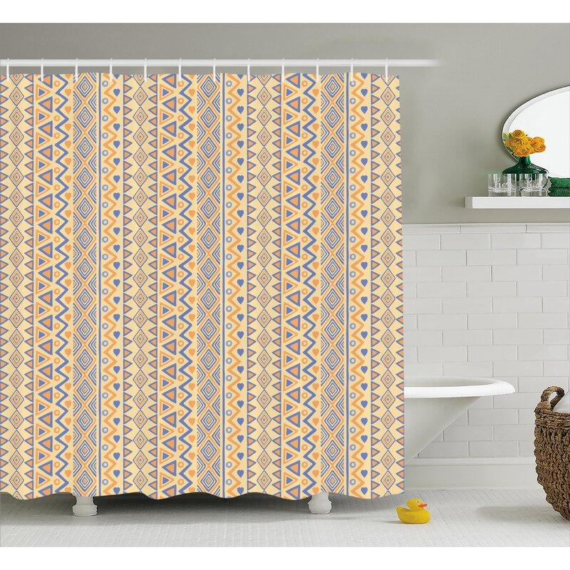 Cyrano Stripes Native American Shower Curtain