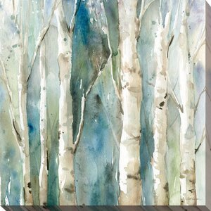 'River Birch I' Painting Print on Wrapped Canvas by Red Barrel Studio