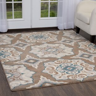 Natural Cerulean Blue Taupe Area Rug By Andover Mills