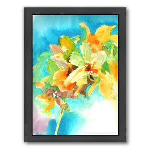 Orchid Framed Painting Print by Alcott Hill