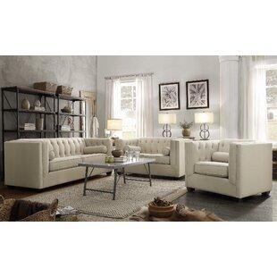 Gleice 3 Piece Living Room Set by Ebern Designs