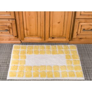 Tiles Cotton Bath Mat