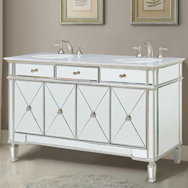 Double Sink Glass Top Vanity Wayfair