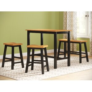 Lamantia 4 Piece Counter Height Pub Table Set by Three Posts