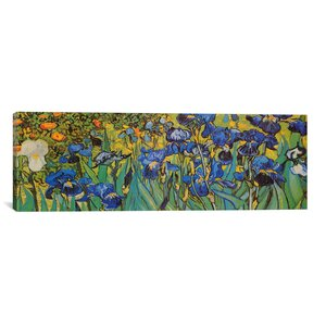 'Irises' Painting Print on Canvas by East Urban Home