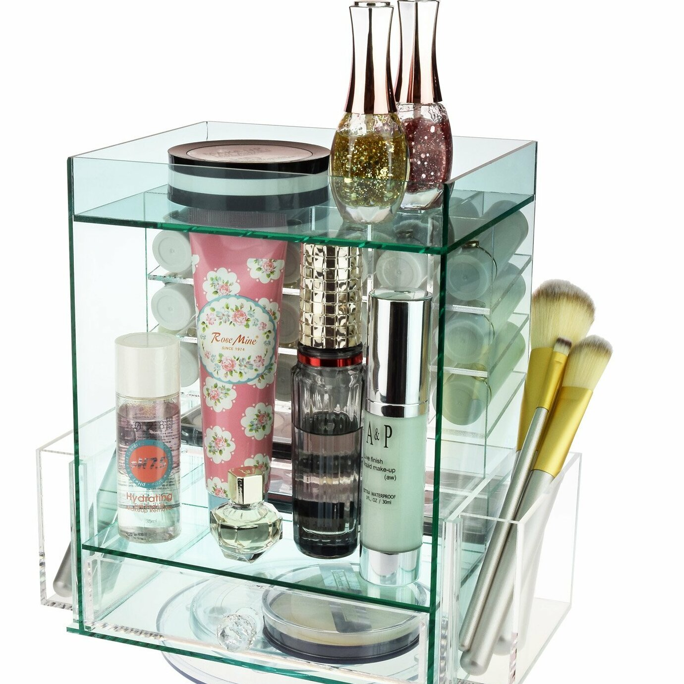 Acrylic Jewelry Cosmetic Storage Makeup Organizer