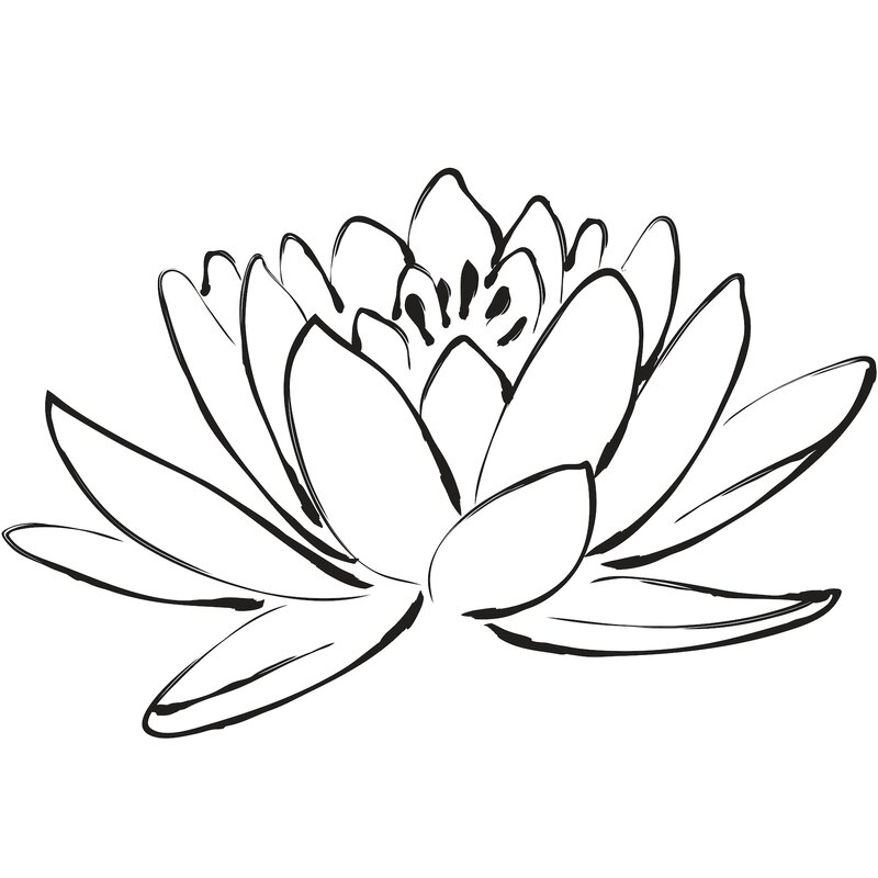 WallPops! Digital Lotus Flower Wall Decal | Wayfair