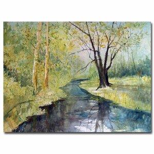 'Covered Bridge Park I' by Ryan Radke Painting Print on Canvas by Trademark Fine Art