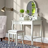 Naugle Vanity Set with Mirror by Alcott Hill