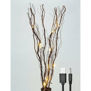 Natural Willow Branches 16 Light LED Battery Lighted Branch