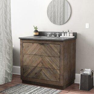 36 inch vanity light wayfair lyla wood 36 single bathroom vanity set aloadofball Gallery