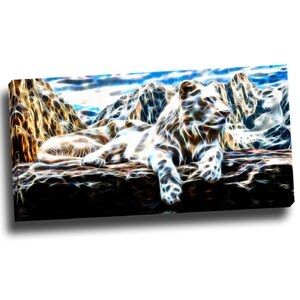 White Tiger Graphic Art on Wrapped Canvas by Design Art