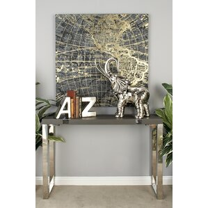 Wood Stainless Steel Console Table by Cole & Grey