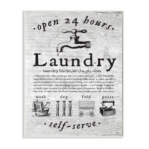 Everything Laundry Textual Wall Plaque by Stupell Industries