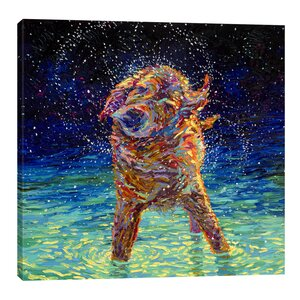 'Moonlight Swim' Painting Print on Wrapped Canvas