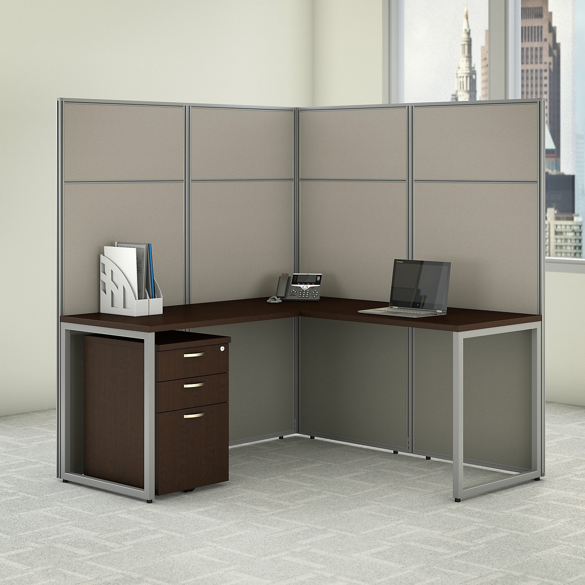 Easy Office L Shaped Desk Cubicle