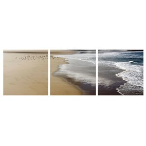 'Ocean Foam and Birds' Photographic Print Multi-Piece Image on Wrapped Canvas by Highland Dunes