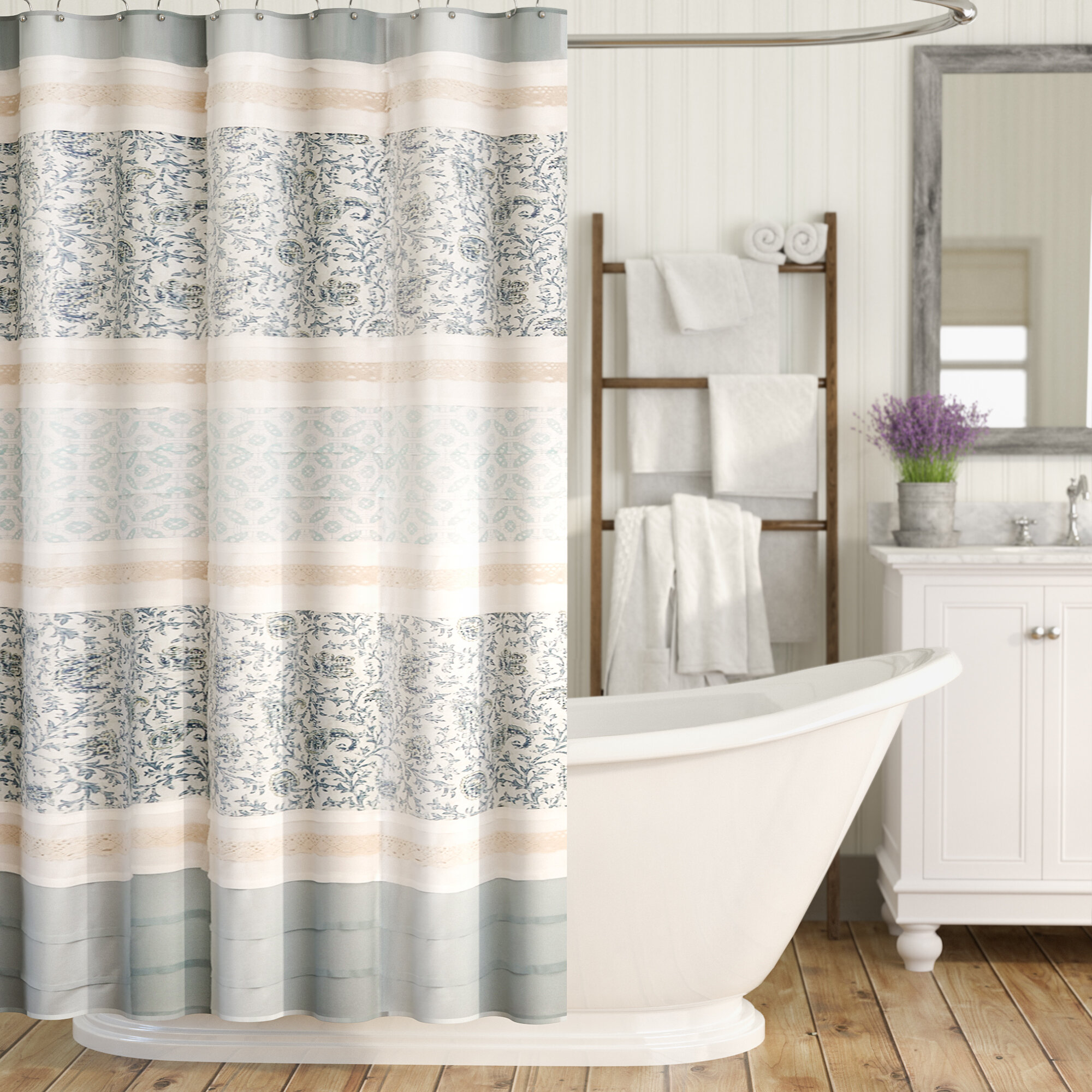 Ophelia Co Hailee Cotton Single Shower Curtain Reviews