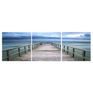 'Baltic Sunset' Photographic Print Multi-Piece Image on Wrapped Canvas by Highland Dunes