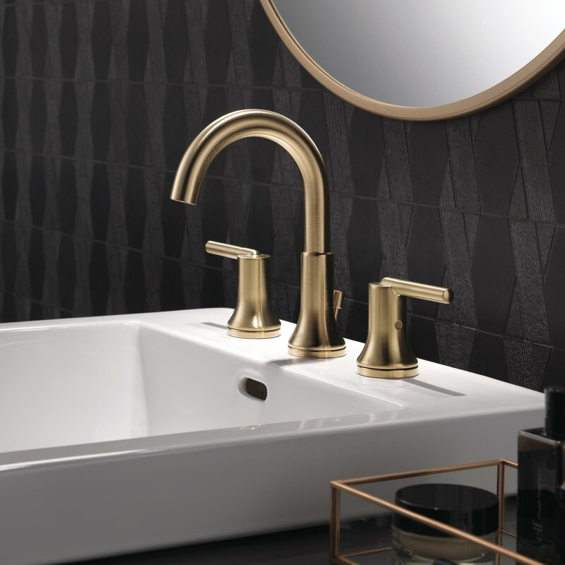Delta Trinsic® Bathroom Widespread Bathroom Faucet with Drain Assembly and Diamond Seal Technology