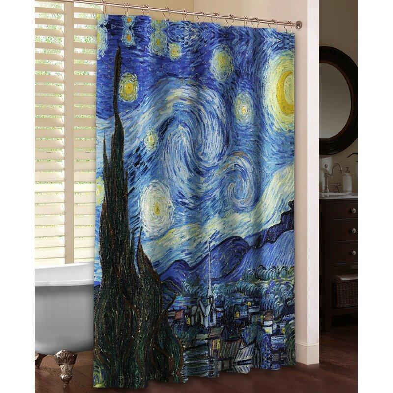 Vincent Van Goghs Starry Night Shower Curtain