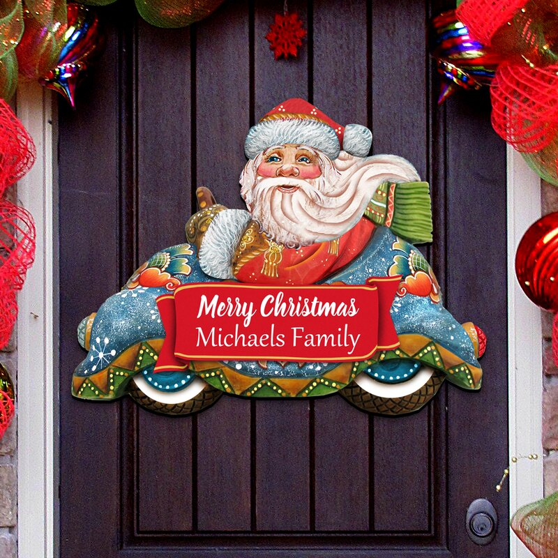 Christmas tree decoration personalised Christmas car family