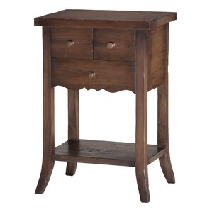 Dany 3 Drawer End Table by One Allium Way