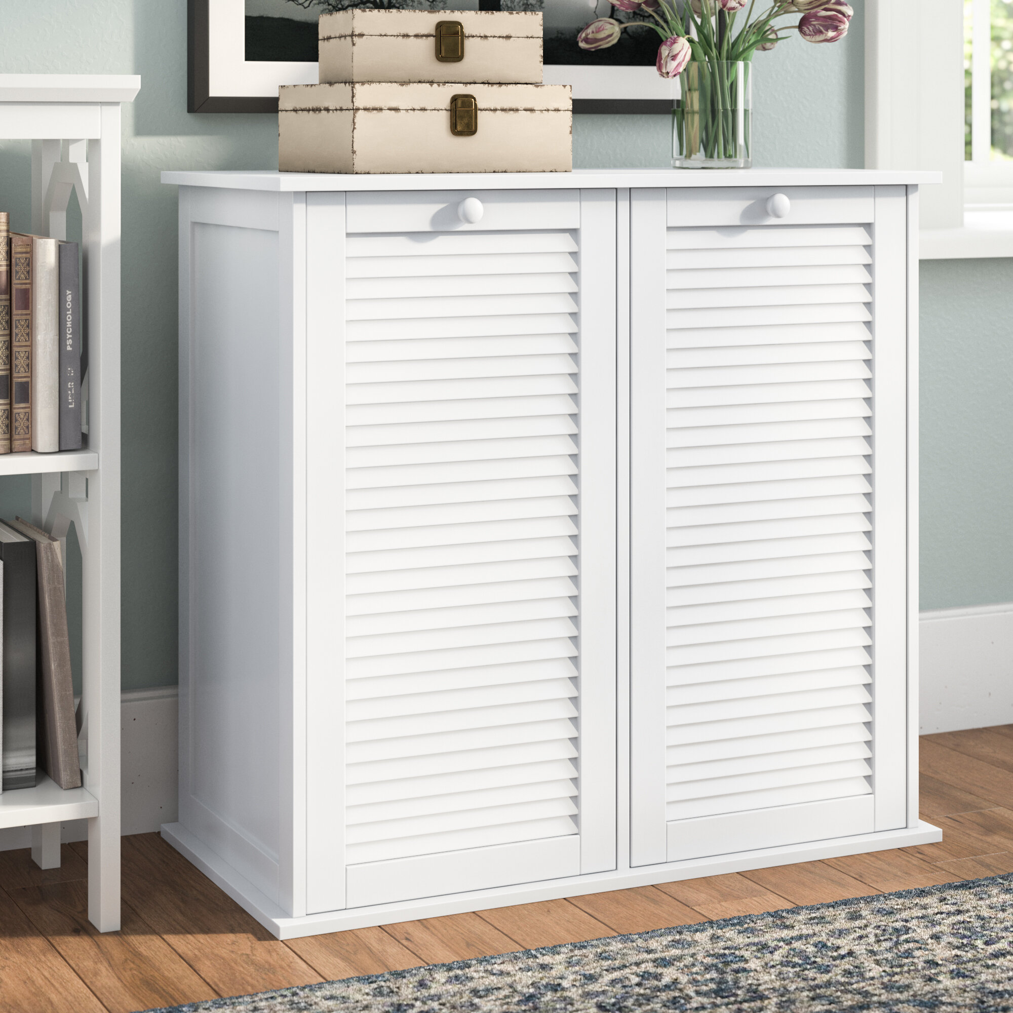 Merveilleux Beachcrest Home Cabinet Laundry Hamper U0026 Reviews | Wayfair