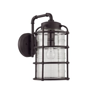 Online Reviews Aario 1-Light Outdoor Wall Lantern By 17 Stories