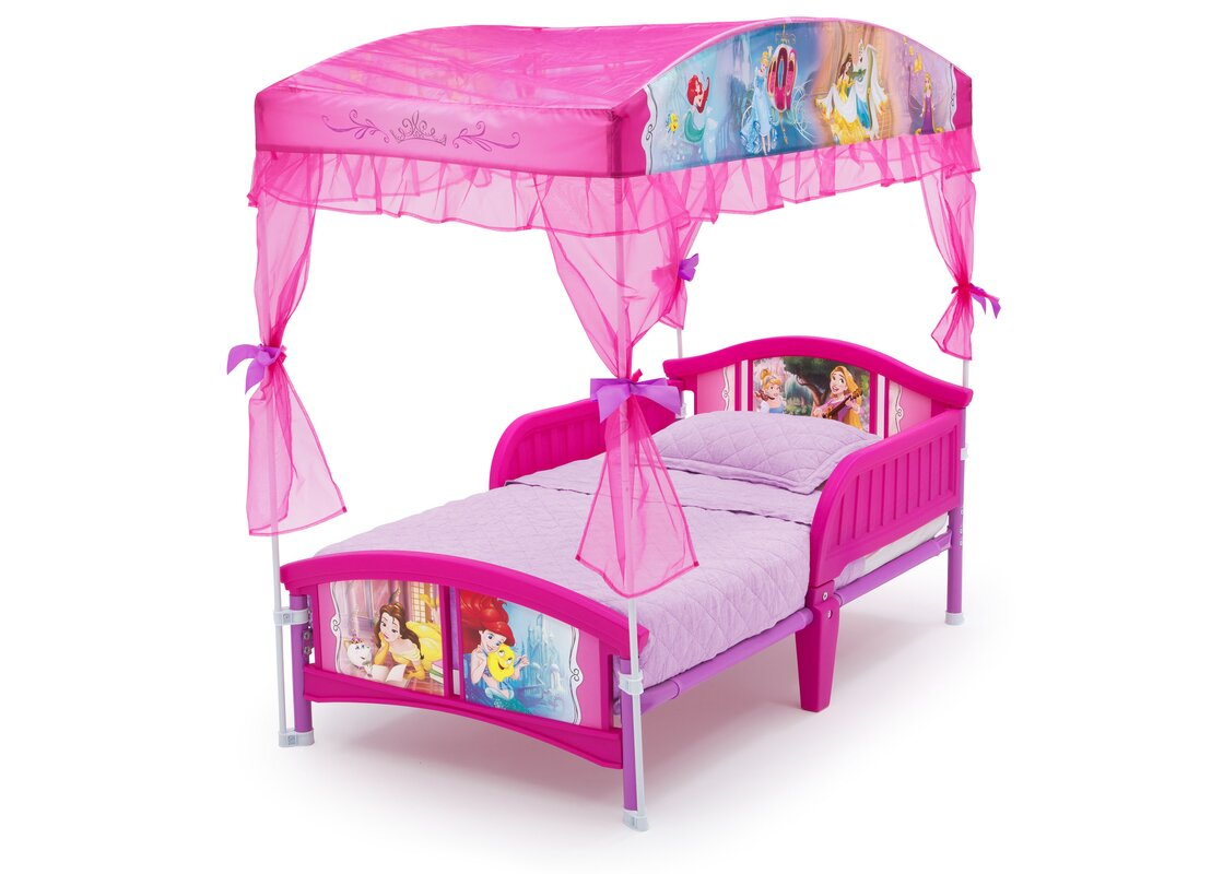 Twin bed top view - Disney Princess Toddler Canopy Bed