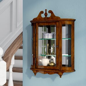 Bedingfield Wall-Mounted Curio Cabinet by Astoria Grand