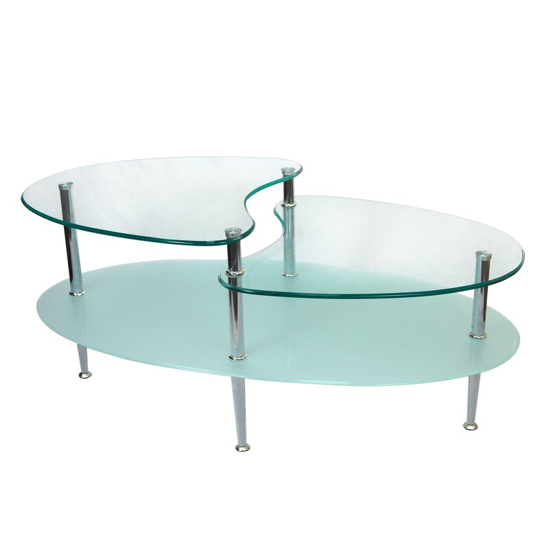 Glass Coffee Tables Youll Love Wayfair - Colorful glass drawers that can form an art object
