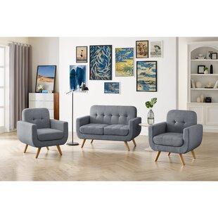 Fraizer Tufted 3 Piece Standard Living Room Set by Corrigan Studio®