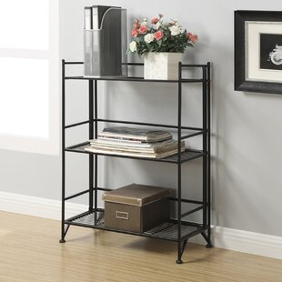 Dondale 3 Tier Wide Folding Etagere Bookcase