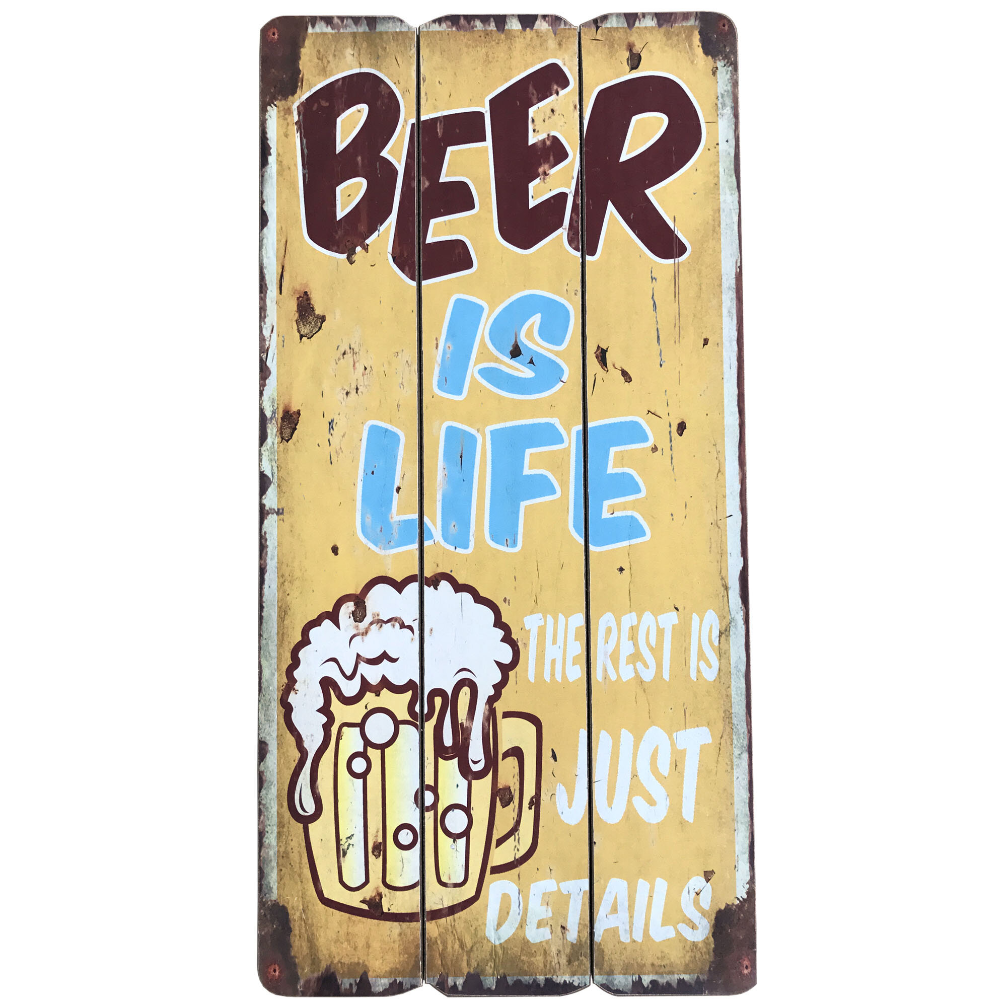 Winston Porter \'Sign with Beer Is Life\' Vertical Graphic Art Print ...