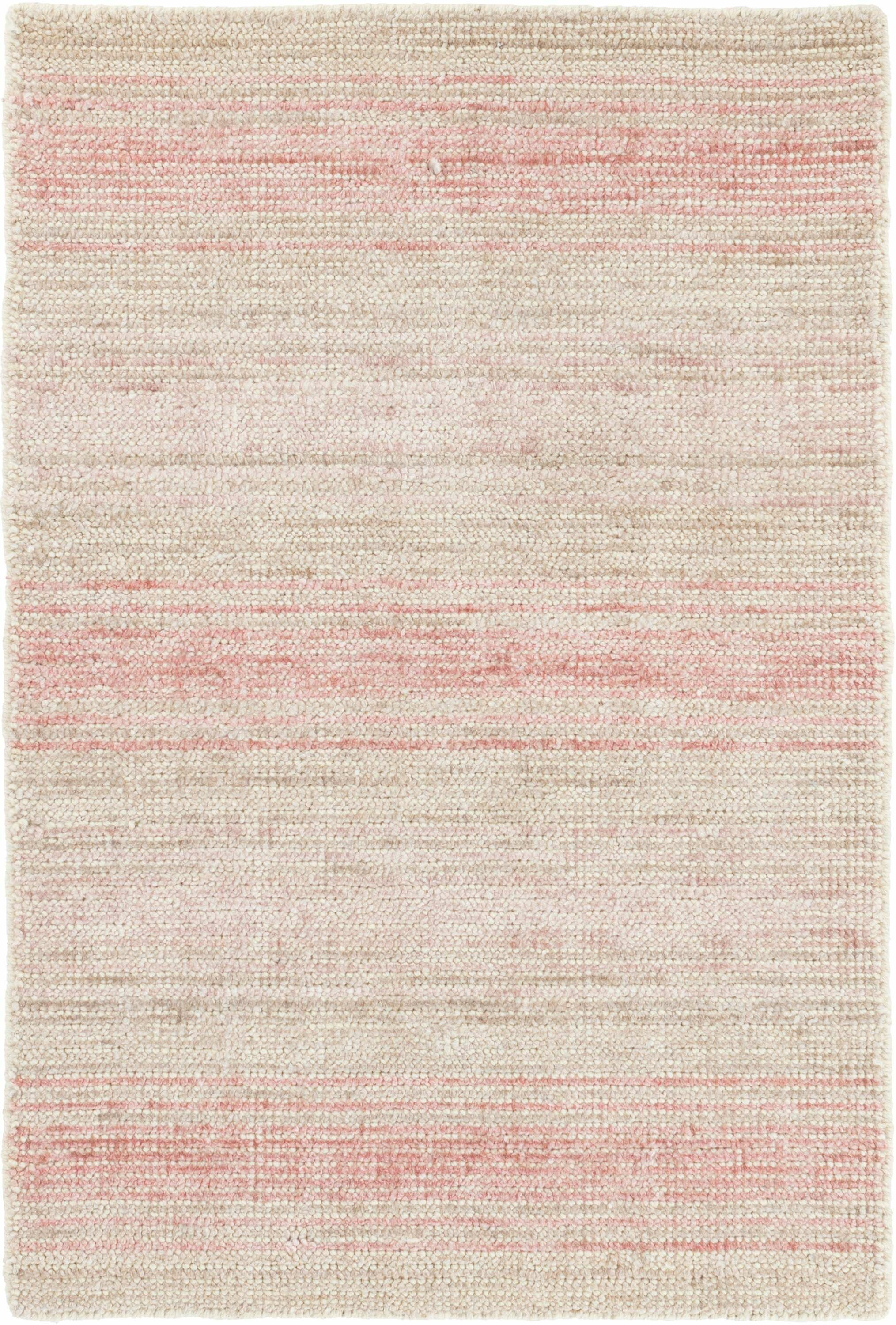Dash And Albert Rugs Aurora Hand Knotted Ivory Pink Area Rug Wayfair
