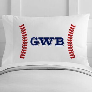 Personalized Baseball Seams Toddler Pillow Case