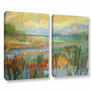 'Marsh in May' 2 Piece Painting Print on Wrapped Canvas Set by Red Barrel Studio