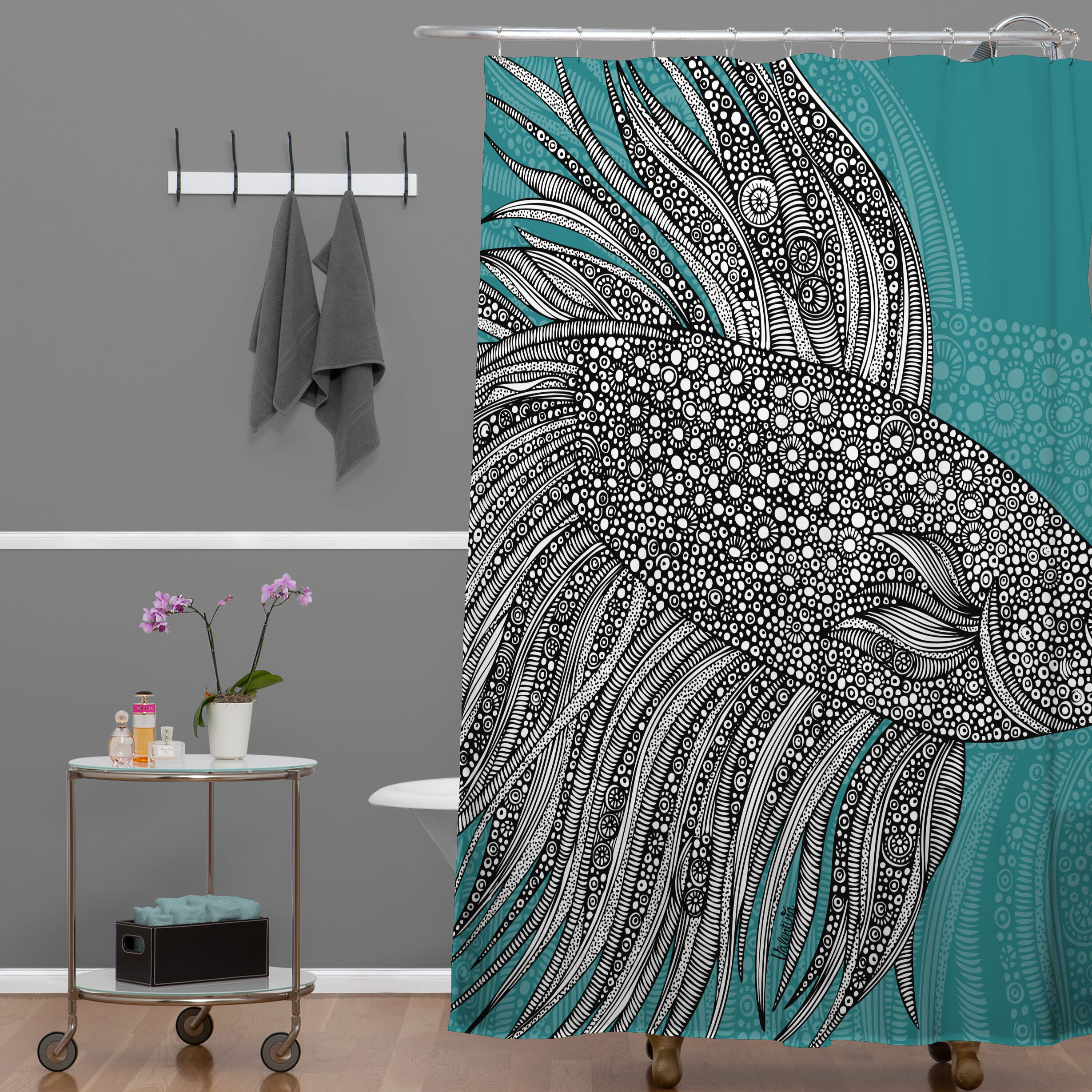 East Urban Home Beta Fish Shower Curtain Reviews