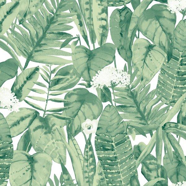 Mercer41 Genevieve Tropical Jungle 33 L X 20 W Peel And Stick Wallpaper Roll