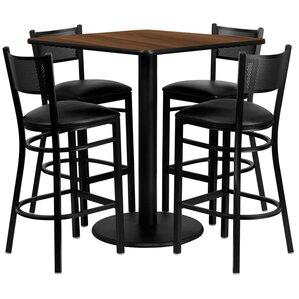 Suraj 5 Piece Pub Table Set by Red Barrel Studio