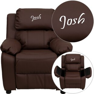 Looking for Deluxe Personalized Kids Leather Recliner with Storage Compartment By Flash Furniture