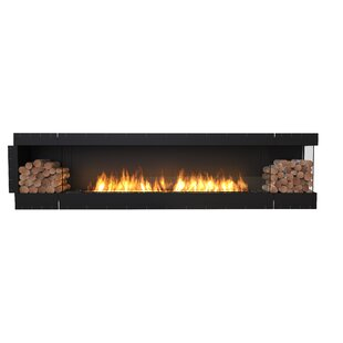 FLEX122 Right Corner Wall Mounted Bio-Ethanol Fireplace Insert  by EcoSmart Fire