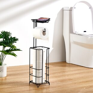 Adhesive Toilet Towel Paper Holder for Bathrooms Command Stainless Cute Lovely