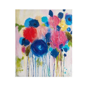 'Hearts and Flowers' Painting Print on Wrapped Canvas by Intelligent Design