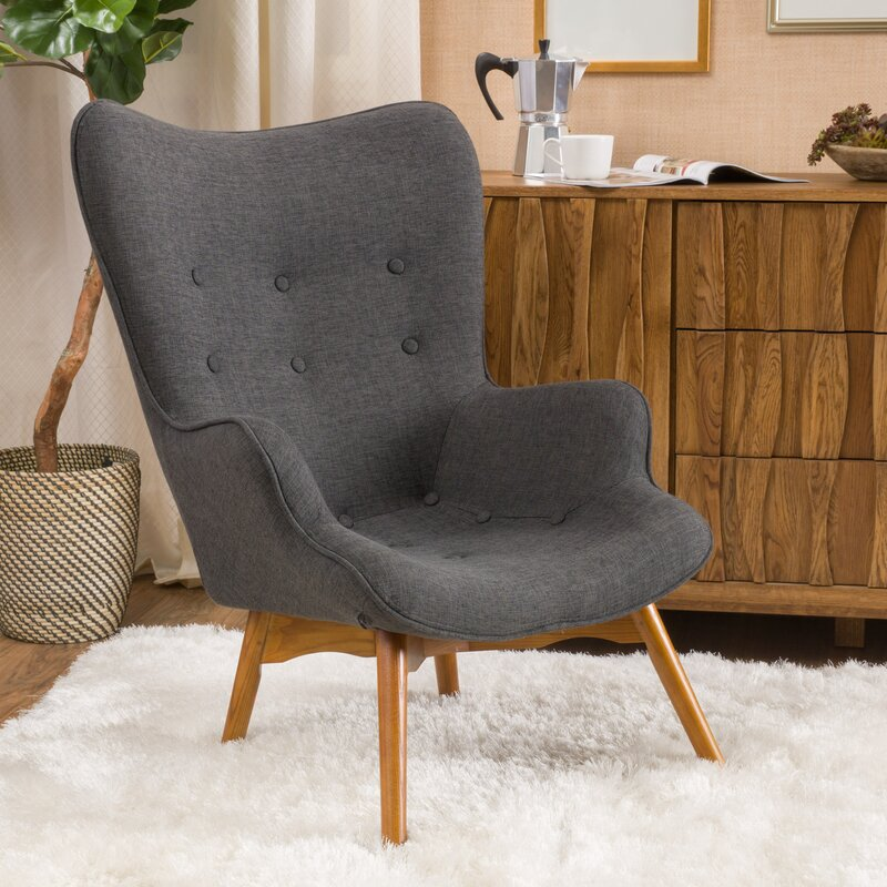 Langley Street Canyon Vista Mid Century Lounge Chair